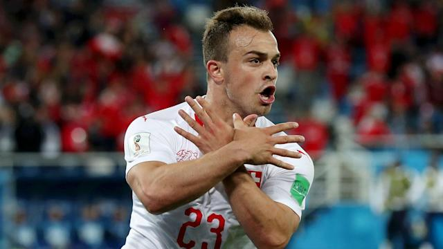 The governing body confirmed it has opened disciplinary proceedings against the Switzerland pair for their celebrations against Serbia