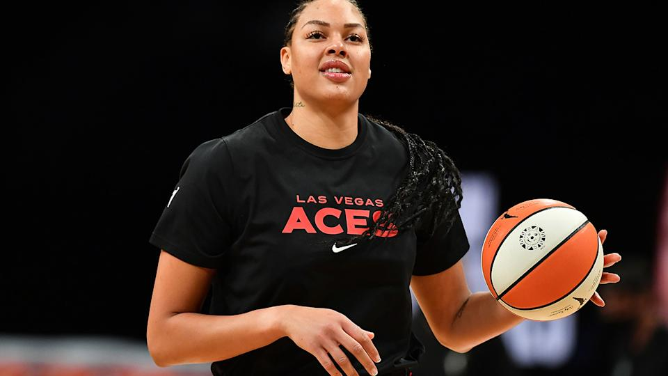Australian basketball star Liz Cambage has vowed not to tone down out outspoken personality during the Tokyo Olympics. (Photo by Catalina Fragoso/NBAE via Getty Images)