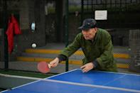 Many older Chinese people play ping-pong to a fairly high standard, as there was a lot of emphasis put on the sport in school