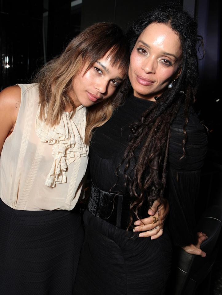 """Zoe Kravitz and Lisa Bonet at The World Premiere of Lionsgate's """"Conan The Barbarian"""" at Regal Cinemas L.A. Live on August 11, 2011 in Los Angeles, California."""