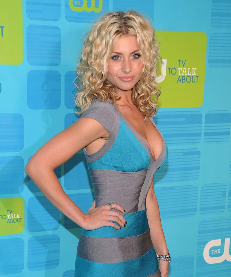 """<a href=""""/alyson-michalka/contributor/1223870"""">Alyson Michalka</a> (""""<a href=""""/hellcats/show/46554"""">Hellcats</a>"""") attends the 2010 The CW Upfront at Madison Square Garden on May 20, 2010 in New York City."""