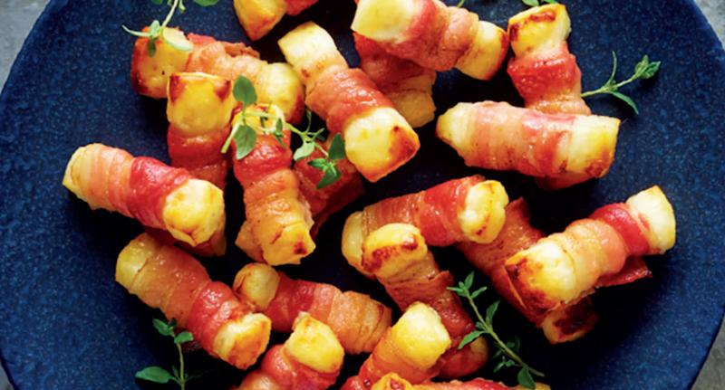 You can feast upon halloumi wrapped in bacon this festive season thanks to Aldi [Photo: Getty]