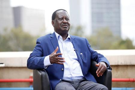 Kenyan opposition leader Raila Odinga of the National Super Alliance coalition speaks during an interview with Reuters in Nairobi, Kenya November 7, 2017. REUTERS/Baz Ratner