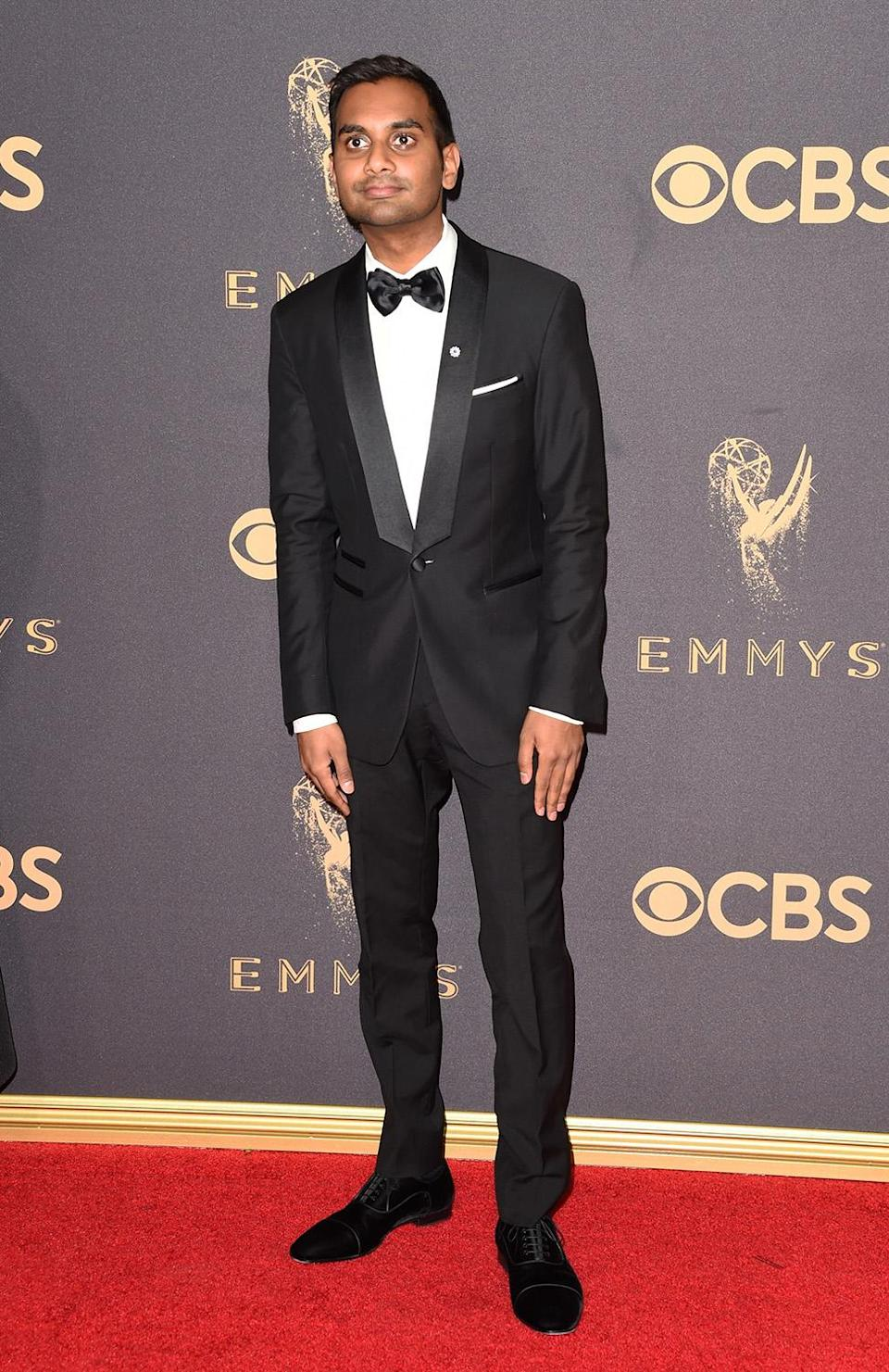 <p>Aziz Ansari attends the 69th Annual Primetime Emmy Awards at Microsoft Theater on September 17, 2017 in Los Angeles, California. (Photo by J. Merritt/Getty Images) </p>