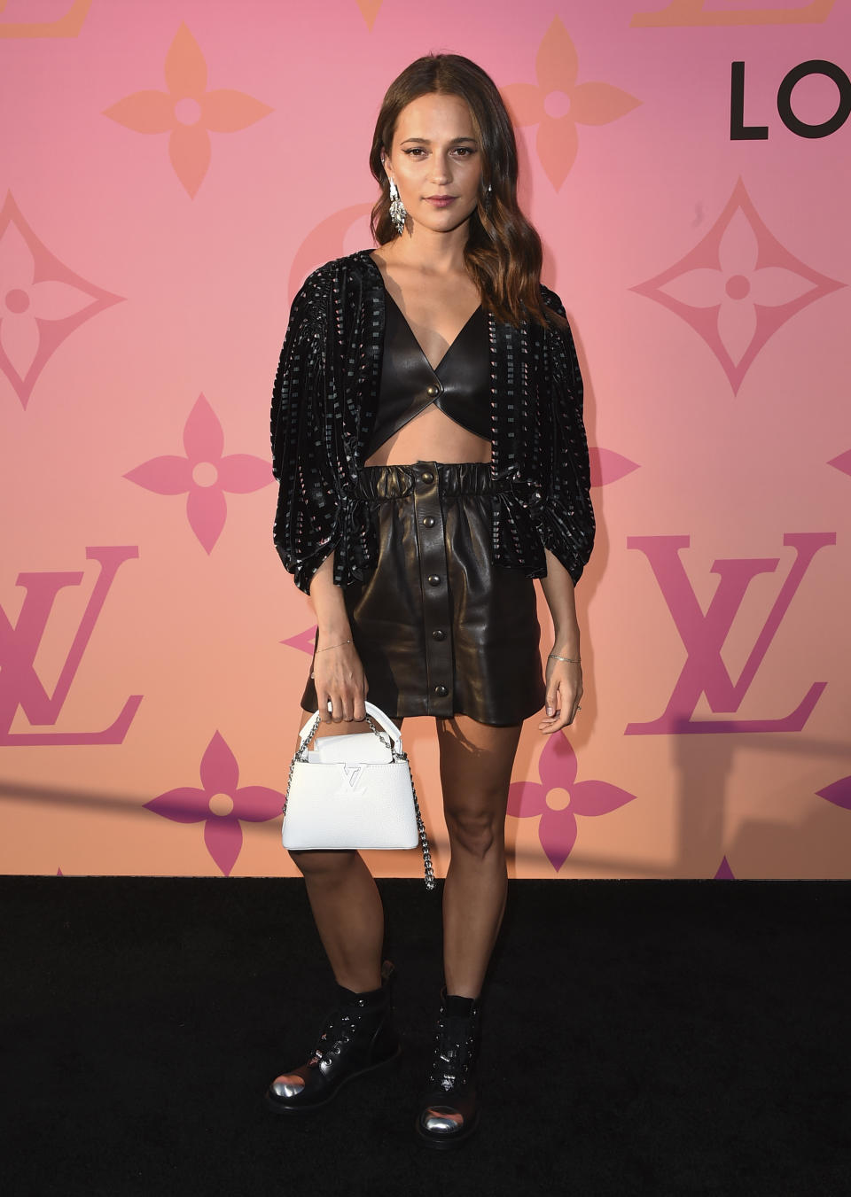 Alicia Vikander arrives at the unveiling of Louis Vuitton X - Louis Vuitton in Collaboration on Thursday, June 27, 2019, in Beverly Hills, Calif. (Photo by Jordan Strauss/Invision/AP)