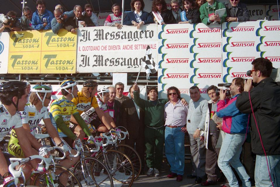 Diego Maradona at Tirreno-Adriatico 1990