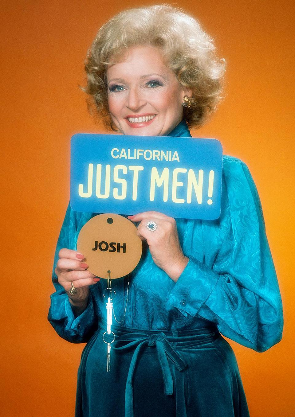 <p>In 1983, White got her own game show, <em>Just Men,</em> and became the first woman to win a Daytime Emmy Award for outstanding game show host. </p>