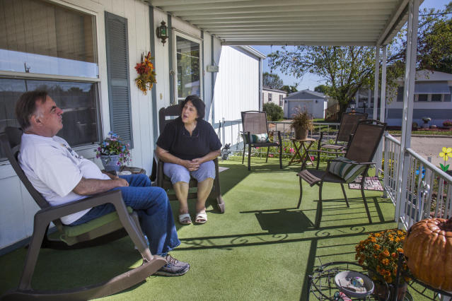 Anne Scherer enjoys making memories with Alan, including singing on their porch. Anne says that even if Alan won't remember these moments, she willenjoy looking back on them. (Rachel Mummey for HuffPost)