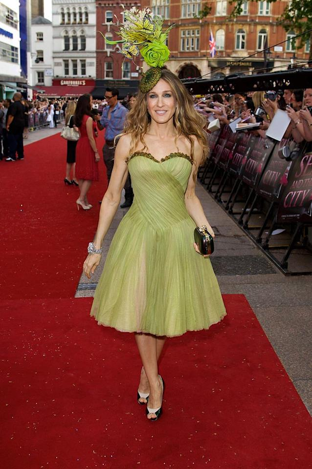 "Sarah Jessica Parker's status as a style icon has been in serious jeopardy ever since she showed up to the London premiere of ""Sex and the City: The Movie"" in this beret gone bad. Mike Marsland/<a href=""http://www.wireimage.com"" target=""new"">WireImage.com</a> - May 12, 2008"