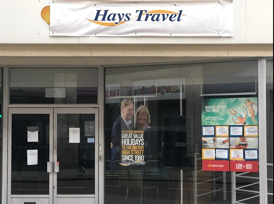 Changing times: a former Thomas Cook agency taken over by Hays Travel (Simon Calder)