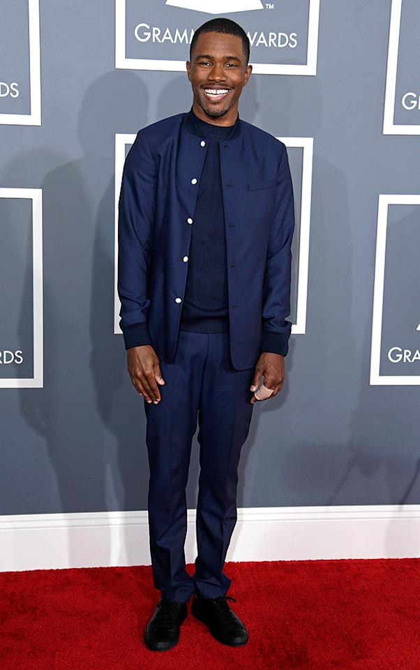 LOS ANGELES, CA - FEBRUARY 10:  Singer Frank Ocean attends the 55th Annual GRAMMY Awards at STAPLES Center on February 10, 2013 in Los Angeles, California.  (Photo by Jeff Vespa/WireImage)