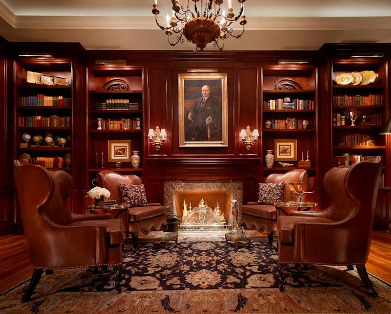 The library at Montage Palmetto Bluff. | Courtesy of Montage Palmetto Bluff