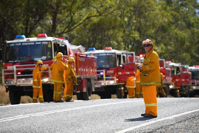 Firefighters across NSW and Queensland are pushed to their limits once again on Friday. Source: AAP