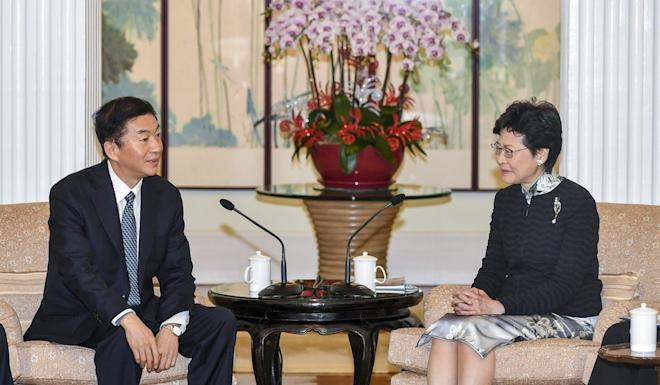 Luo Huining is no stranger to Hong Kong and previously met Chief Executive Carrie Lam when he led a delegation to the city in 2018. Photo: Handout