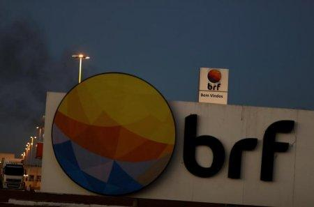 Meatpacking company BRF SA's logo, which is one of the biggest food companies in the world, is pictured in Lucas do Rio Verde, Mato Grosso state, Brazil, July 27, 2017. REUTERS/Nacho Doce