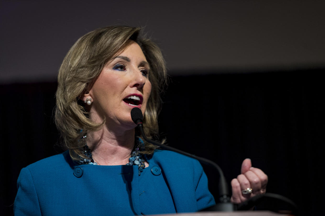 Tenth Congressional District candidate, incumbent Rep. Barbara Comstock, R-Va., participates in a debate against Democratic state Sen. Jennifer Wexton on Sept. 21, 2018, in Leesburg, Va. (Photo: Pete Marovich for the Washington Post via Getty Images)