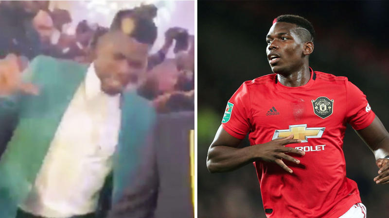 Paul Pogba has come under fire from some United fans for dancing at his brother's wedding while being out injured since September. (Image: Twitter/Getty Images)