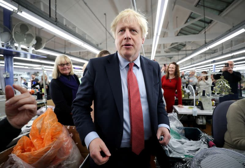 Britain's Prime Minister Boris Johnson's general election campaign