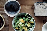 """The key ingredient in this salad? Grated apple. You'd never guess it, since the flavors don't wind up at all sweet or fruity. The fruit extends the unctuous richness of avocado and complements the clean assertiveness of peppery watercress. <a href=""""https://www.epicurious.com/recipes/food/views/avocado-and-watercress-salad-242342?mbid=synd_yahoo_rss"""" rel=""""nofollow noopener"""" target=""""_blank"""" data-ylk=""""slk:See recipe."""" class=""""link rapid-noclick-resp"""">See recipe.</a>"""