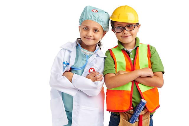 young little doctor and engineer