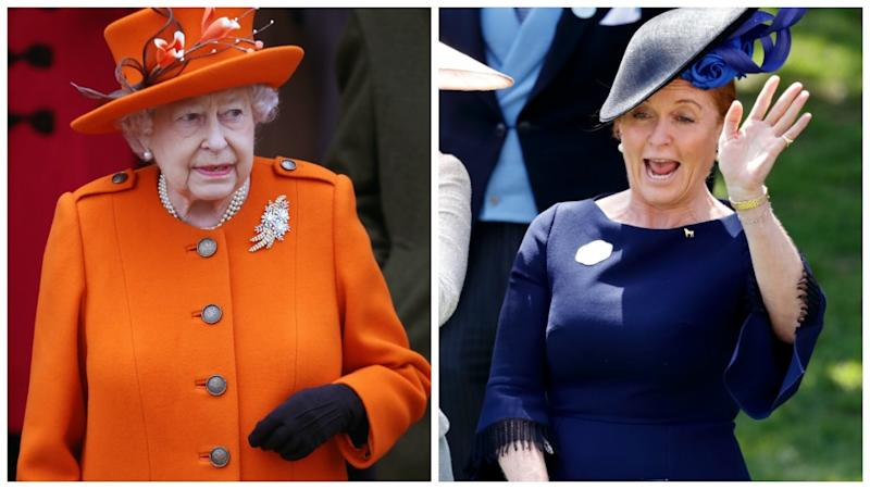 The Queen is reportedly very wary of Sarah 'Fergie' Ferguson's antics. Source GettyMore