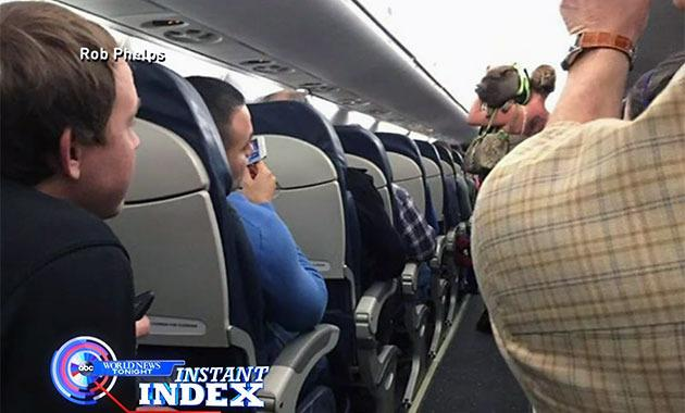 Incontinent pig kicked off flight