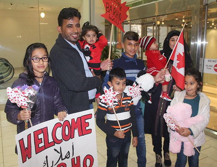 <p>Members of the Barho family are shown upon arrival in Canada on Sept. 29 2017, at the Halifax airport.<br />In a brief interview from the hospital, Imam Wael Haridy of the Nova Scotia Islamic Community Centre said they had fled to Canada to escape the civil war in Syria. </p>