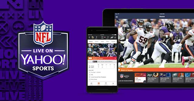 Watch live NFL games on the Yahoo Sports app. (Yahoo Sports)