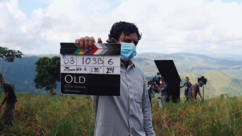 After the big-budget disaster of passion project <em>Glass</em>, M. Night Shyamalan is heading back to his thriller roots for <em>Old</em>. Inspired by the French graphic novel <em>Sandcastle</em>, the movie follows the mysterious events around the discovery of a dead body on a secluded beach. The poster for the film hints at time playing a role in the mystery and the cast includes Gael Garcia Bernal, Eliza Scanlen and Thomasin McKenzie. (Credit: M. Night Shyamalan/Twitter)