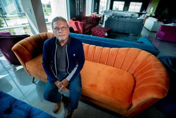 Dino Colalillo, owner of Edgewood Furniture in Woodbridge, Ont., says he's glad to see the government take action with tariffs to level the playing field for domestic manufacturers like him. (Craig Chivers/CBC - image credit)