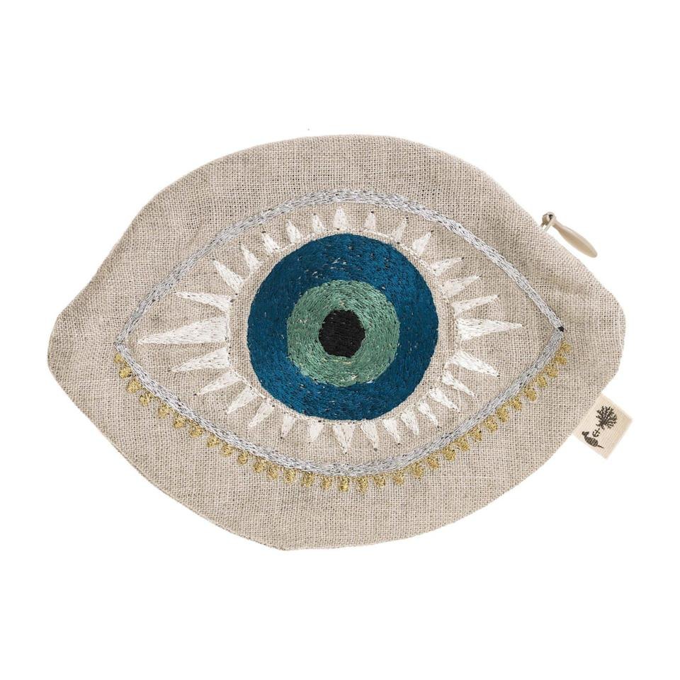 "<br> <br> <strong>Coral & Tusk</strong> Evil Eye Pouch, $, available at <a href=""https://go.skimresources.com/?id=30283X879131&url=https%3A%2F%2Fwww.maisonette.com%2Fkids%2Fgirl-accessories%2Fbags%2Fevil-eye-pouch"" rel=""nofollow noopener"" target=""_blank"" data-ylk=""slk:Maisonette"" class=""link rapid-noclick-resp"">Maisonette</a>"