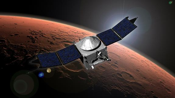 NASA Spacecraft Arrives at Mars to Probe Mysteries of Red Planet's Air
