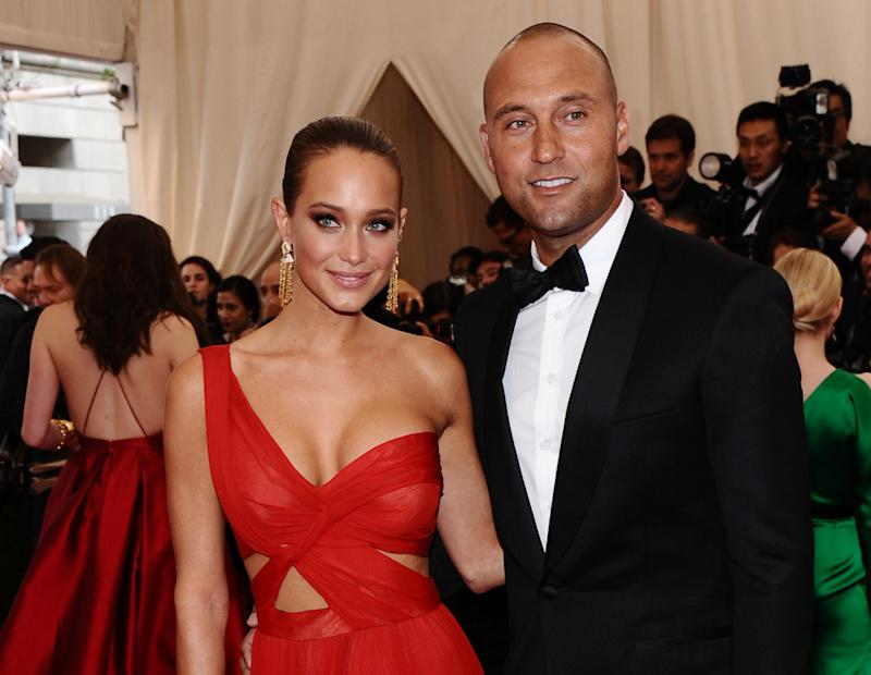 Derek Jeter and his wife, Hannah, in 2015. (AP)