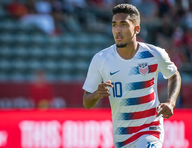 Jesus Ferreira impressed in his debut for the United States in Saturday's 1-0 friendly win over Costa Rica. (Shaun Clark/Getty)