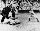 """<p><strong>August 19, 1951</strong>: Bill Veeck, the St. Louis Browns owner and baseball's greatest promoter, created one of the game's iconic images when he signed 3-foot-7-inch Eddie Gaedel to a contract and sent him to bat as a pinch hitter. """"The picture itself is so hilarious,"""" says Lanctot. """"Gaedel looks like he's really ready to hit."""" Gaedel, whose strike zone measured all of one-and-a-half feet, walked on four pitches and twice tipped his cap to the crowd before being lifted for a pinch runner.<br> </p>"""