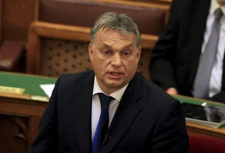 Hungarian Prime Minister Viktor Orban addresses Parliament in Budapest