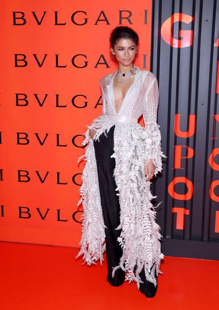 <p>For the Bulgari B.zero1 Rock event in Brooklyn, Zendaya wore a Rahul Mishra Couture look with jewels by the one and only Bulgari. <br></p>
