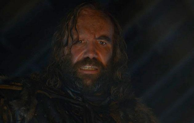 The Hound looked completely freaked out by his White Walker vision. Source: HBO