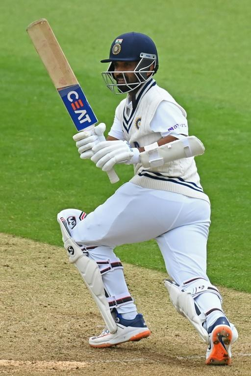 Top score - Ajinkya Rahane on his way to 49 out of India's first innings 217 in the World Test Championship final againt New Zealand at Southampton on Sunday