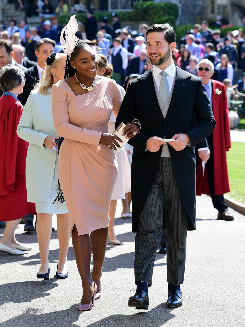 Serena and her husband Alexis at the royal wedding [Photo: Getty]