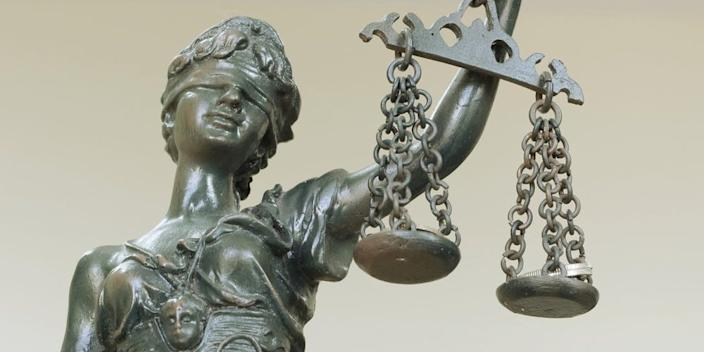 justice blind scale