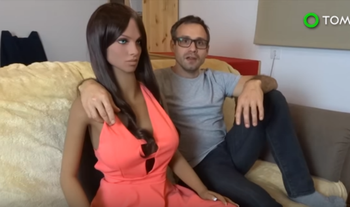 Dr Sergi Santos who created a life size doll, has sex with it regularly. According to him, this has improved his married life and sex life.