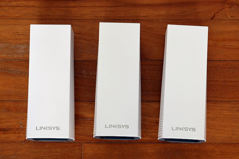 The Linksys Velop system is available as a single router or in twin or triple-pack bundles.