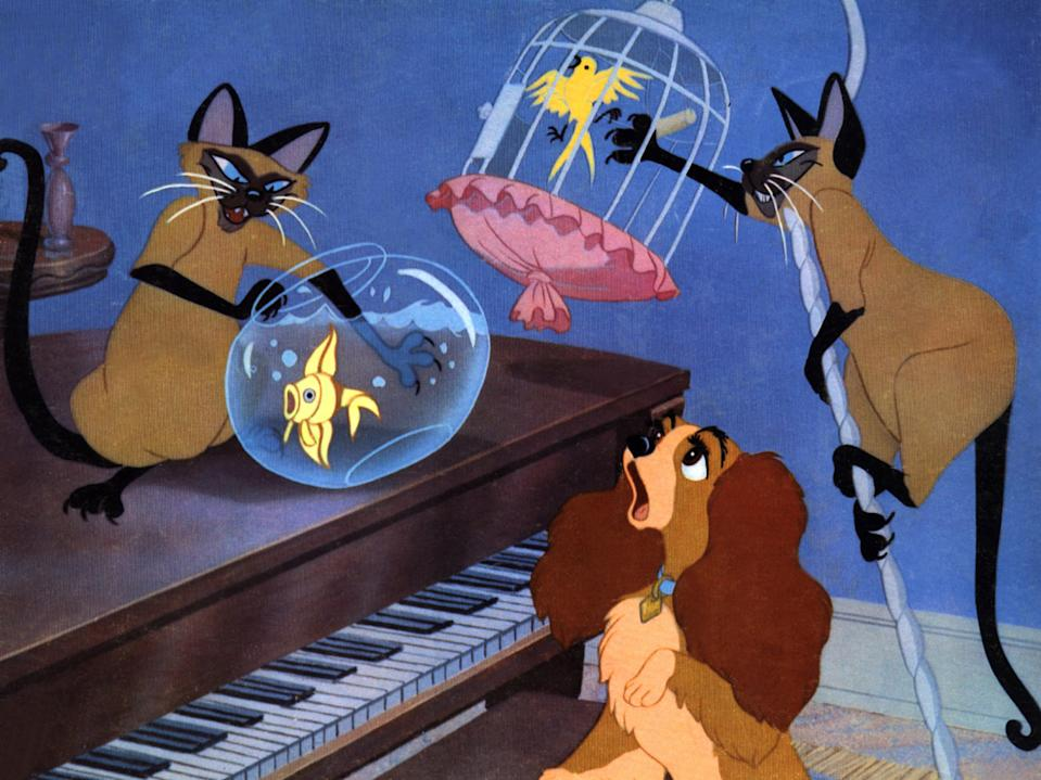 Kino. Susi und Strolch, (LADY AND THE TRAMP) USA, 1955, Regie: Clyde Geronimi, Wilfred Jackson, Stichwort: Walt Disney. (Photo by FilmPublicityArchive/United Archives via Getty Images)