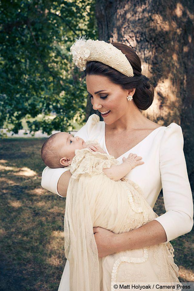 <p>Kate holding Prince Louis following his christening.</p>