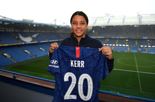 Sam Kerr will join current WSL leaders Chelsea Women. (Getty Images)
