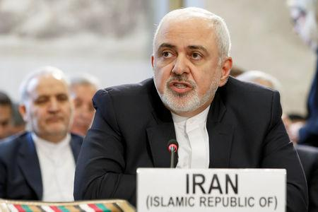 Iranian Foreign Minister Mohammad Javad Zarif delivers his statement, during the Geneva Conference on Afghanistan, at the European headquarters of the United Nations in Geneva, Switzerland, November 28, 2018. Salvatore Di Nolfi/Pool via REUTERS/File Photo