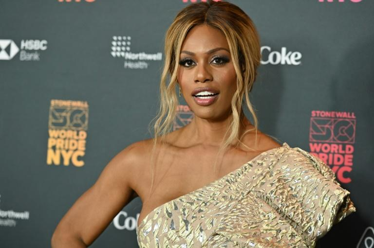 "Laverne Cox, a transgender actress known for her role in the hit series ""Orange is the New Black,"" arrives for the opening ceremony of New York's World Pride celebration"