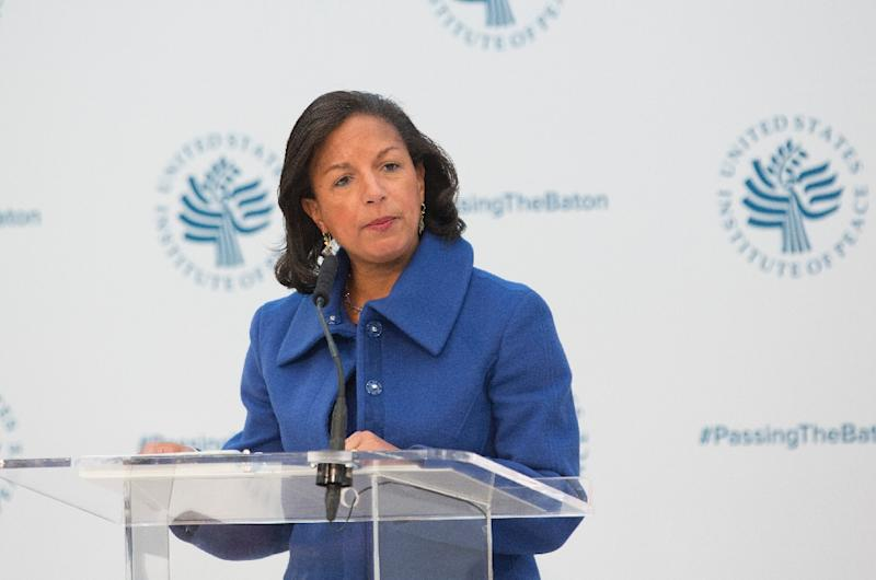 On Tuesday, Obama's national security adviser Susan Rice, seen in January 2017, acknowledged reports that she had unmasked some of the Americans in the intercepts (AFP Photo/CHRIS KLEPONIS)