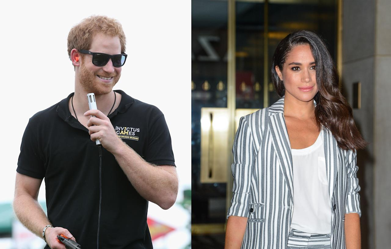 "<p>The couple met in May 2016 in Meghan's hometown of Toronto. It's believed they were introduced by mutual friend and fashion designer Misha Nonoo over lunch with the pair describing their first meeting as a ""blind date."" They began properly dating in July. Three weeks later, they spent time together in Botswana camping out under the stars.<br /><i>[Photo: Getty]</i> </p>"